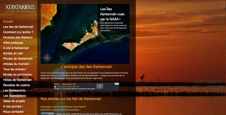 Site Kerkenniens.com kerkennah Screenshot Juillet 2014