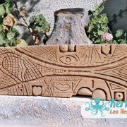 La vie Sculpture sur bois de palmier Izaro (Najib Bousabbah) Artiste Peintre et Sculpteur