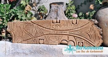 La vie Sculpture sur bois de palmier Izaro (Najib Bousabbah) Artiste Peintre et Sculpteur El Maghaza