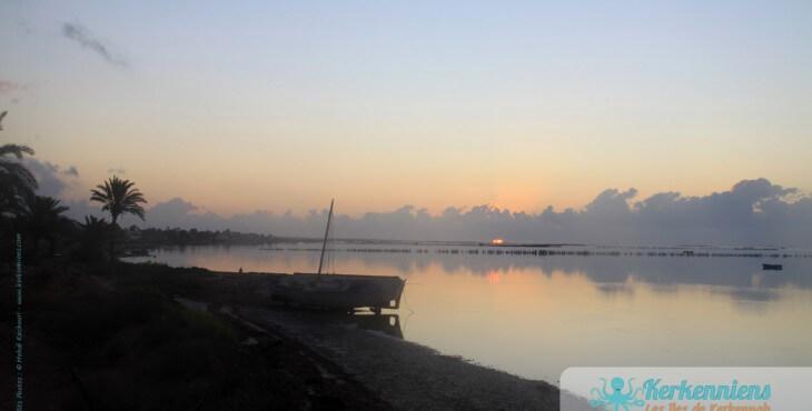 Iles de Kerkena lever du soleil