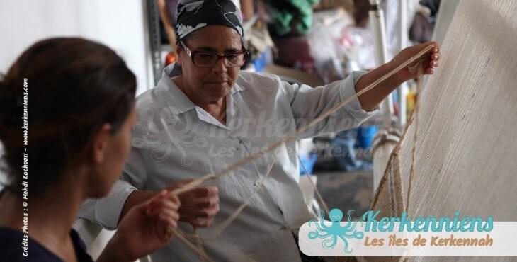 Mahbouba l'atelier d'Ouled Kacem Artisanat Kerkenniens Atelier Kerkenatiss