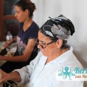 Mahbouba et Dalila l'atelier d'Ouled Kacem Artisanat Kerkenniens Atelier Kerkenatiss Kerkennah