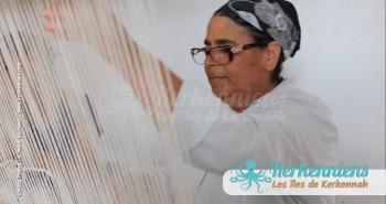Mahbouba Tissage tapisserie l'atelier d'Ouled Kacem Artisanat Kerkenniens Atelier Kerkenatiss Kerkennah
