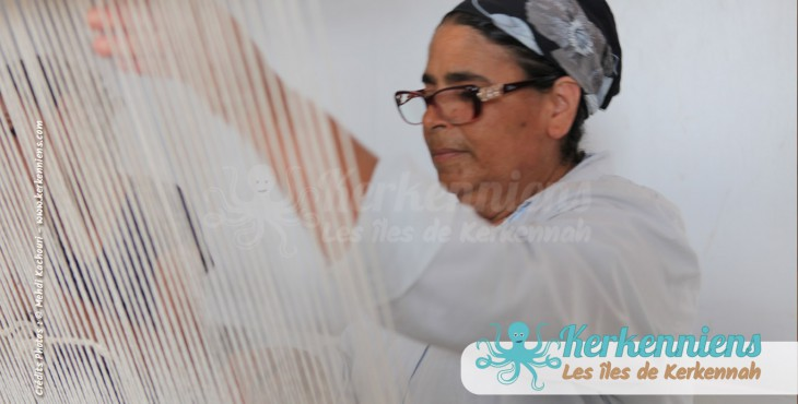 Mahbouba Tissage tapisserie l'atelier d'Ouled Kacem Artisanat Kerkenniens Atelier Kerkenatiss