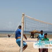 Match beach volley retour Tournoi de Beach volley Association Sports et Loisirs de Kerkennah