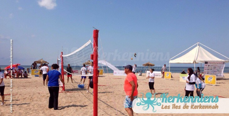 Match équipe femme beach volley ball Kerkennah terre beach volley Kerkennah Happy Beach Volley Ball