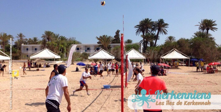 Match beach volley ball Kerkennah terre beach volley Kerkennah Happy Beach Volley Ball