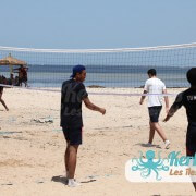 Match 3×3 beach volley retour Tournoi de Beach volley Association Sports et Loisirs de Kerkennah