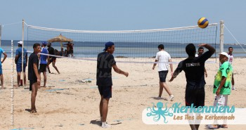 Match 3X3 beach volley retour Tournoi de Beach volley Association Sports et Loisirs de Kerkennah