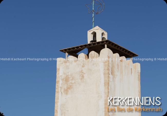 Minaret de la mosquée du village de Ouled Yaneg Tunisie