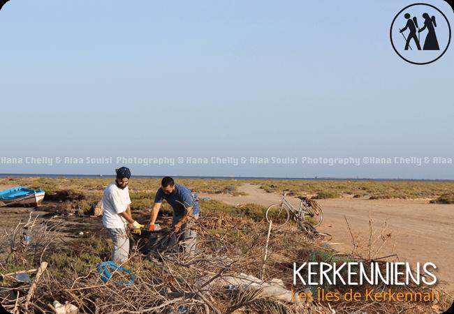 Opération nettoyage des plages karknia karkni