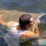 Pêcheur avec une nasse (Drina)