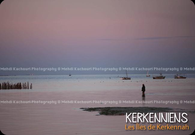 Un pêcheur qui revient de sa journée de travail Kerkennah Tunisie