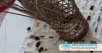 Photophore Tissage broderie Vannerie Atelier Kerkenatiss El Maghaza