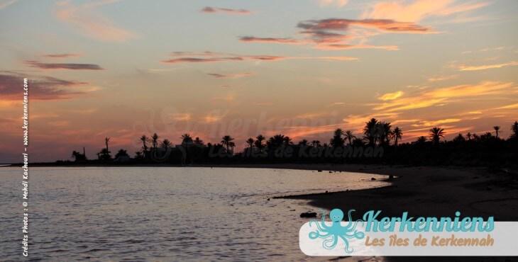 Photos d'une fin de journée sur les îles de Kerkennah Tunisie