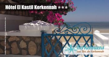 La plage les pieds dans l'eau Hôtel El Kastil Kerkennah Tunisie