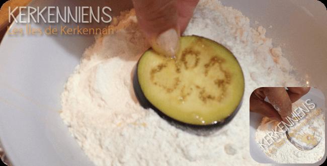 Beignet d'Aubergine frit Recette de cuisine photo 4