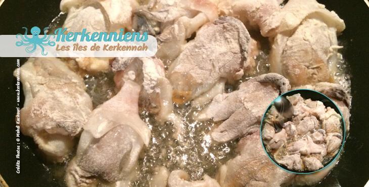 Fennoud (Fannoud) de Seiche (Chouabi) Recette de cuisine - Photo 2
