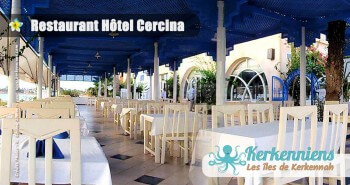 La terrasse du restaurant de l'hôtel Cercina