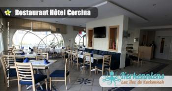 La salle interieure du restaurant de l'hôtel Cercina
