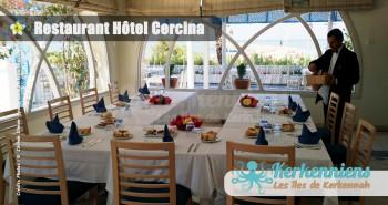 Réservation restaurant groupe de l'hôtel Cercina