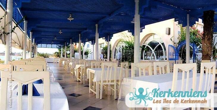 Le Restaurant de l'hôtel Cercina Kerkennah Tunisie