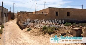 Une rue du village de Ouled Yaneg (Kerkennah)
