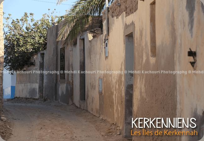 Ruelle du village de Ouled Yaneg Kerkennah Tunisie