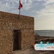 Le fort Lahsar avec le drapeau Tunisien