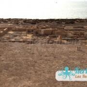 les ruines devant le Fort Lahsar îles de Kerkennah Tunisie Borj Lahsar Kerkennah