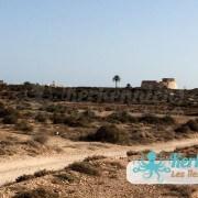 route vers le Fort Lahsar îles de Kerkennah Tunisie Borj Lahsar Kerkennah