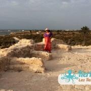 Ma cousine au Fort Lahsar îles de Kerkennah Tunisie Borj Lahsar Kerkennah