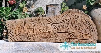 Sculpture sur bois de palmier brut Izaro (Najib Bousabbah) Artiste Peintre et Sculpteur El Maghaza