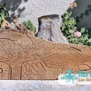 Sculpture sur bois de palmier Izaro (Najib Bousabbah) Artiste Peintre et Sculpteur