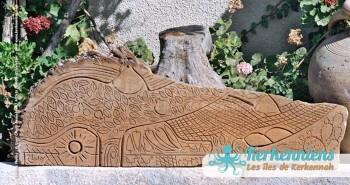 Sculpture sur bois de palmier Izaro (Najib Bousabbah) Artiste Peintre et Sculpteur El Maghaza