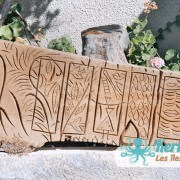 Sculpture sur bois de palmier Kerkennah Izaro (Najib Bousabbah) Artiste Peintre et Sculpteur