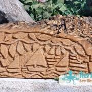 Sculpture sur bois de palmier Kerkennah voile latine Izaro (Najib Bousabbah) Artiste Peintre et Sculpteur