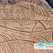 Sculpture sur bois de palmier photo Izaro (Najib Bousabbah) Artiste Peintre et Sculpteur