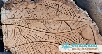 Sculpture sur bois de palmier photo Izaro (Najib Bousabbah) Artiste Peintre et Sculpteur El Maghaza