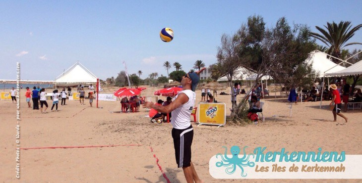 Service beach volley ball Kerkennah terre beach volley Kerkennah Happy Beach Volley Ball