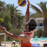 Service match beach volley ball retour Tournoi de Beach volley Association Sports et Loisirs de Kerkennah