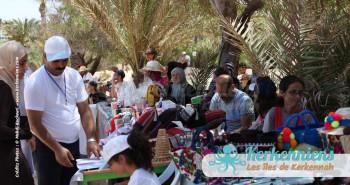 Stand des sponsors retour Tournoi de Beach volley Association Sports et Loisirs de Kerkennah