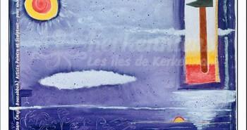 Tableau le soleil brillera 68x68 Izaro Najib Bousabbah Artiste Peintre et Sculpteur El Maghaza