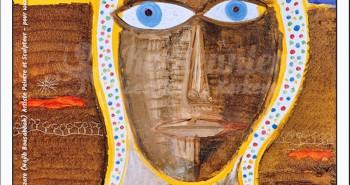 Tableau regard 49x49 Izaro Najib Bousabbah Artiste Peintre et Sculpteur El Maghaza