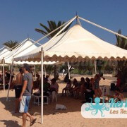Tente en toile Kerkennah terre beach volley Kerkennah Happy Beach Volley Ball