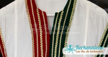 Vêtement traditionnel kerkennien Tissage broderie Vannerie Atelier Kerkenatiss El Maghaza