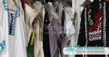 Vêtement robe création et traditionnel kerkennien Tissage broderie Vannerie Atelier Kerkenatiss El Maghaza