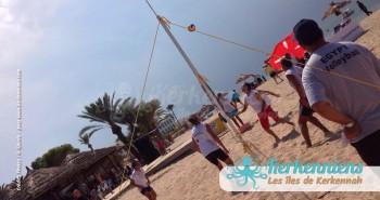 Volley ball Kerkennah terre beach volley Kerkennah Happy Beach Volley Ball