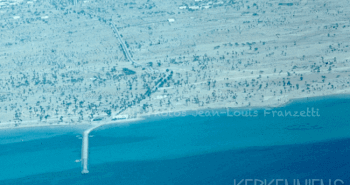 Vue aérienne des iles de Kerkennah kerkenniens le blog