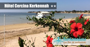 Vue sur la plage Hôtel Cercina Kerkennah Tunisie